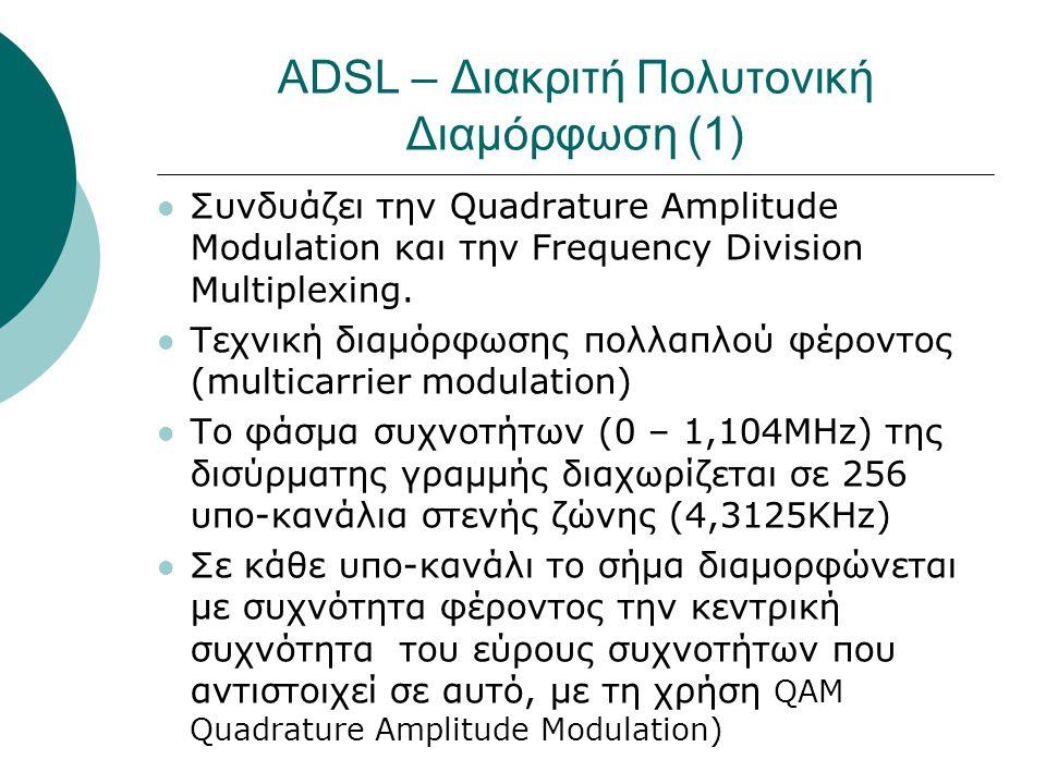 ADSL – Διακριτή Πολυτονική Διαμόρφωση (1)