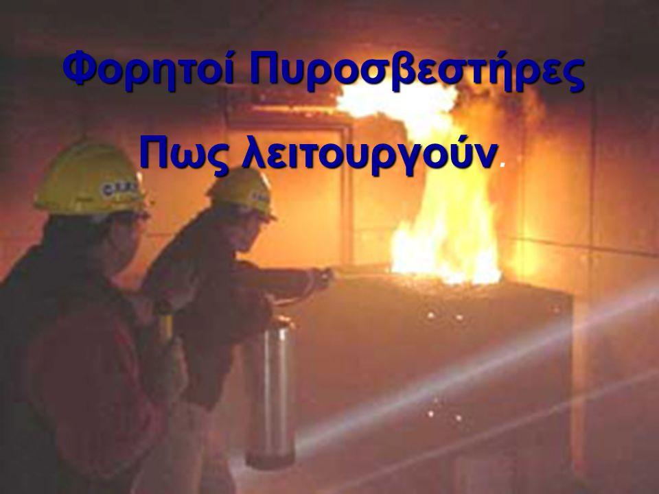 Φορητοί Πυροσβεστήρες Πως λειτουργούν.