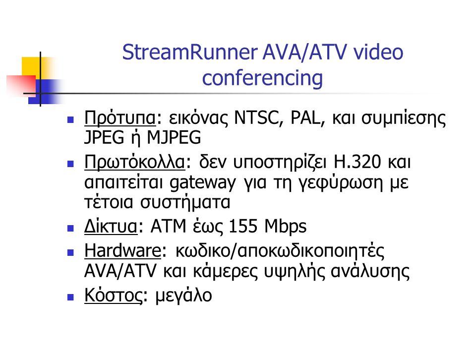 StreamRunner AVA/ATV video conferencing