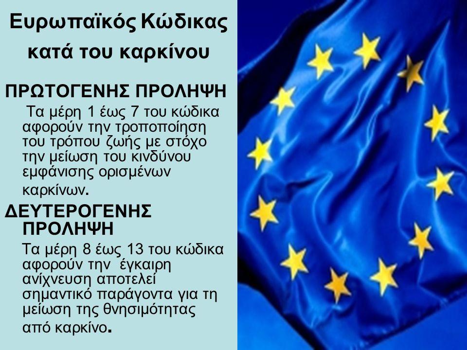Ευρωπαϊκός Κώδικας κατά του καρκίνου