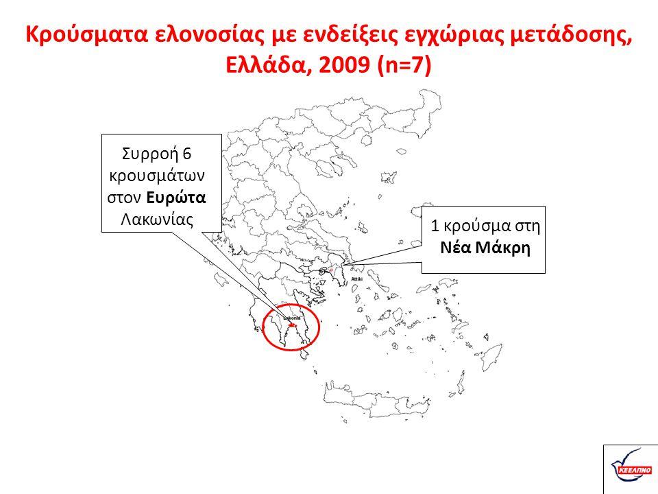 Συρροή 6 κρουσμάτων στον Ευρώτα Λακωνίας