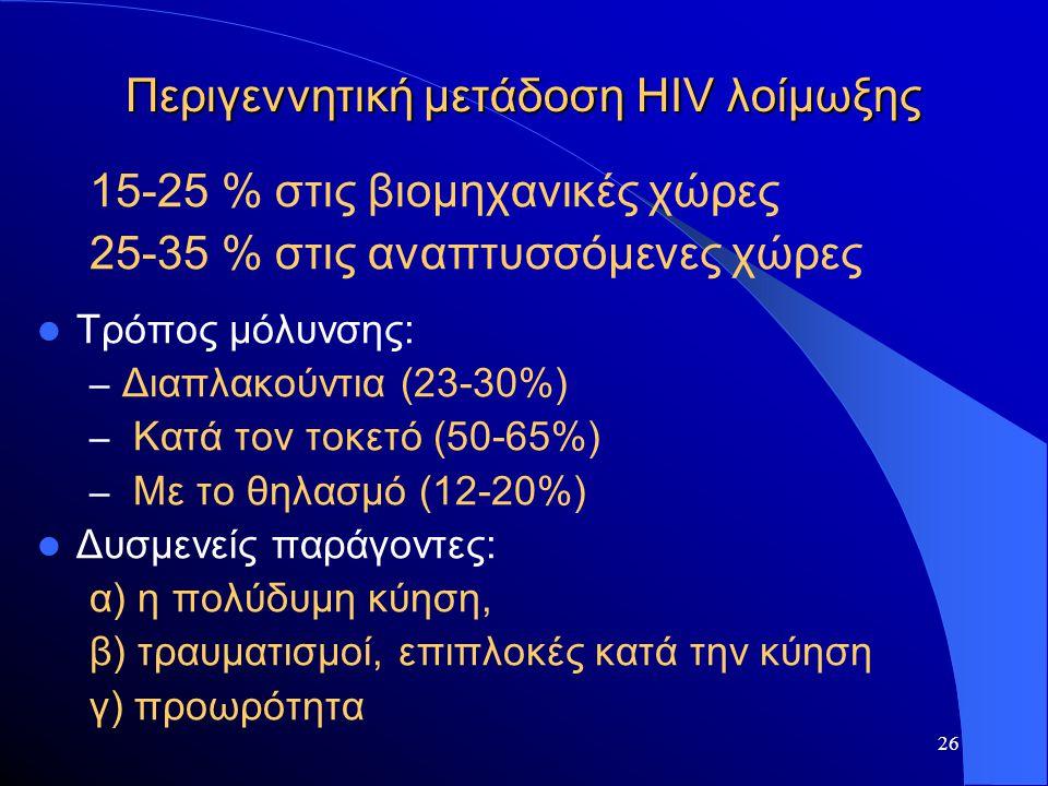 Περιγεννητική μετάδοση HIV λοίμωξης