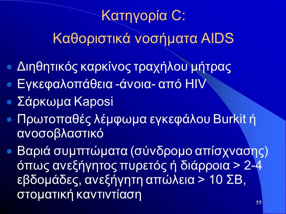 Κατηγορία C: Καθοριστικά νοσήματα AIDS