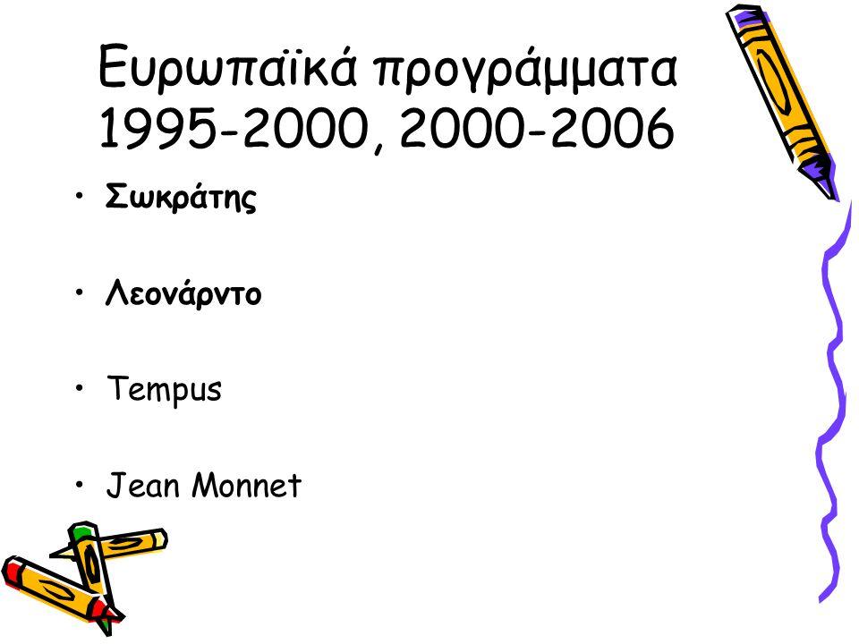 Ευρωπαϊκά προγράμματα 1995-2000, 2000-2006