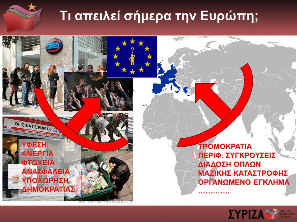 Τι απειλεί σήμερα την Ευρώπη;