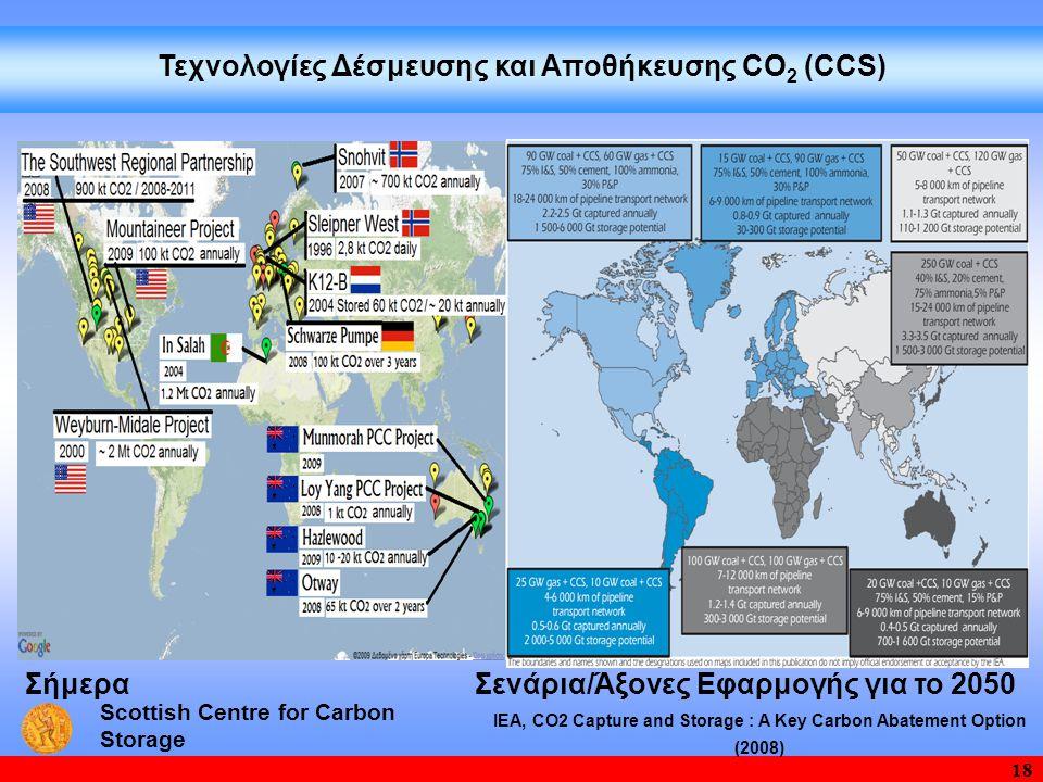 Τεχνολογίες Δέσμευσης και Aποθήκευσης CΟ2 (CCS)