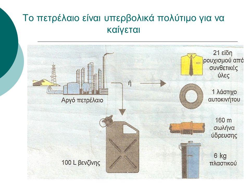 Το πετρέλαιο είναι υπερβολικά πολύτιμο για να καίγεται