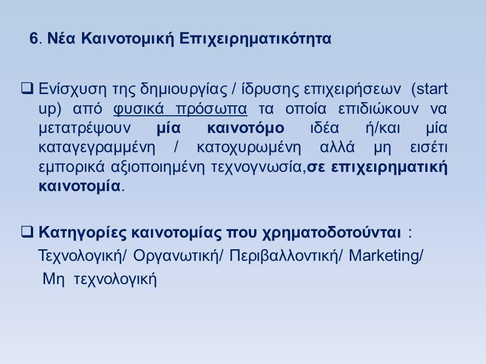 6. Νέα Καινοτομική Επιχειρηματικότητα