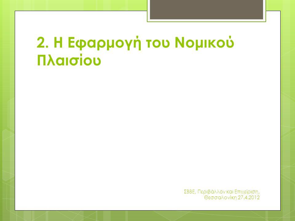 2. Η Εφαρμογή του Νομικού Πλαισίου
