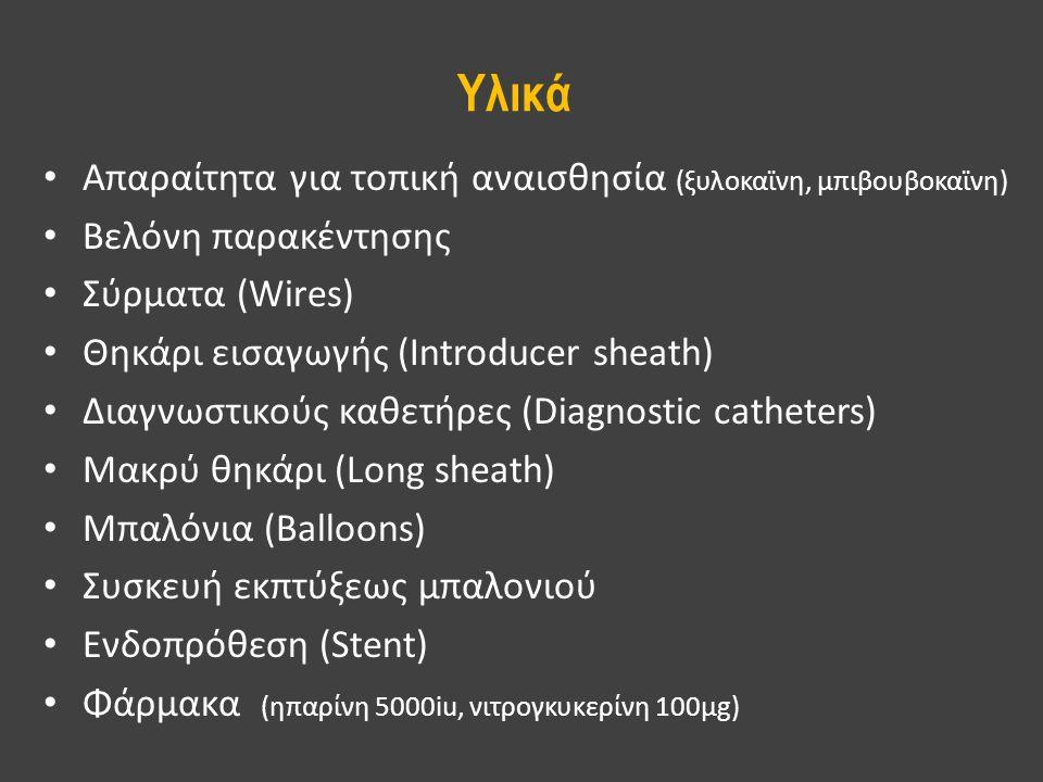 Υλικά Απαραίτητα για τοπική αναισθησία (ξυλοκαϊνη, μπιβουβοκαϊνη)