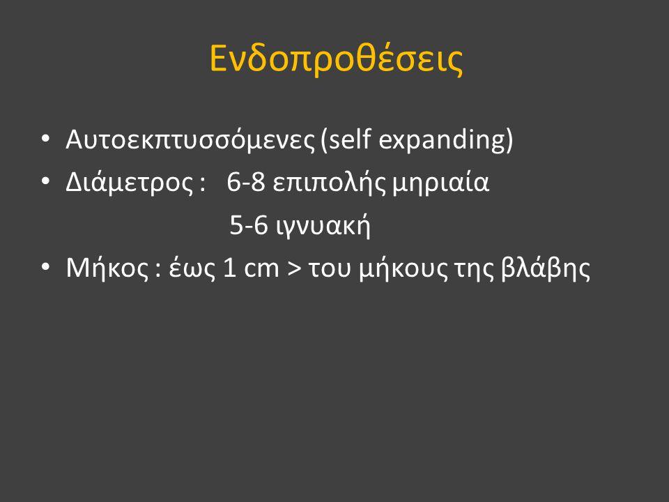 Ενδοπροθέσεις Αυτοεκπτυσσόμενες (self expanding)