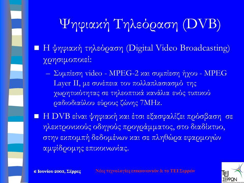 Ψηφιακή Τηλεόραση (DVB)