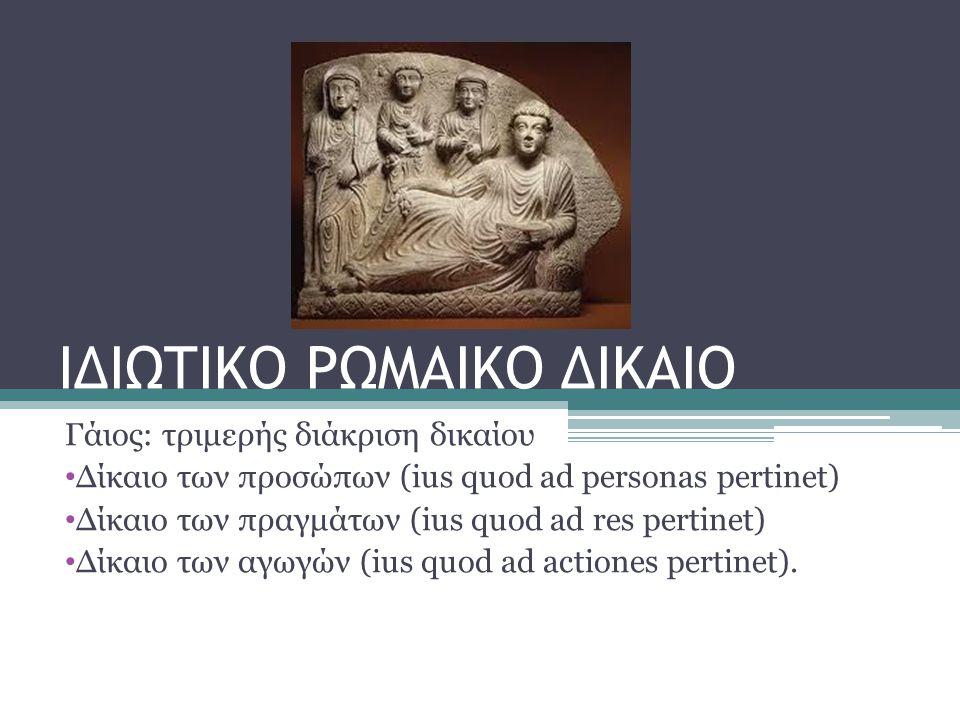 ΙΔΙΩΤΙΚΟ ΡΩΜΑΙΚΟ ΔΙΚΑΙΟ