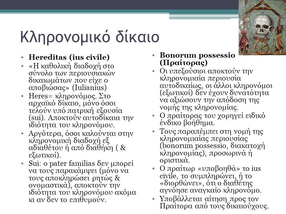 Κληρονομικό δίκαιο Bonorum possessio (Πραίτορας)