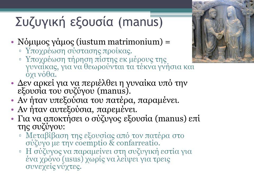 Συζυγική εξουσία (manus)