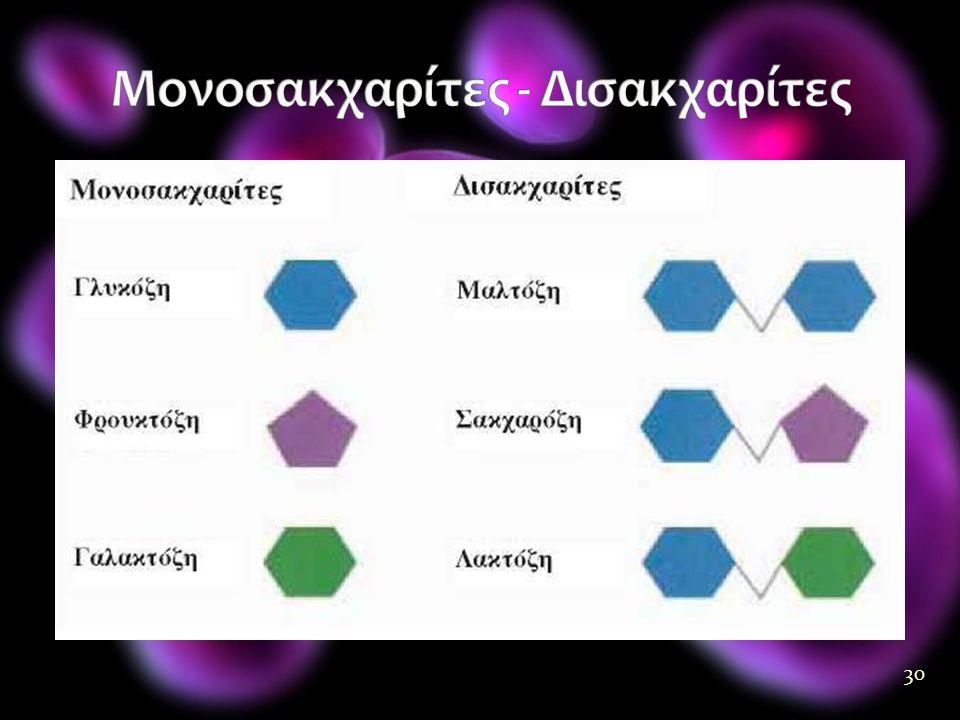 Μονοσακχαρίτες - Δισακχαρίτες
