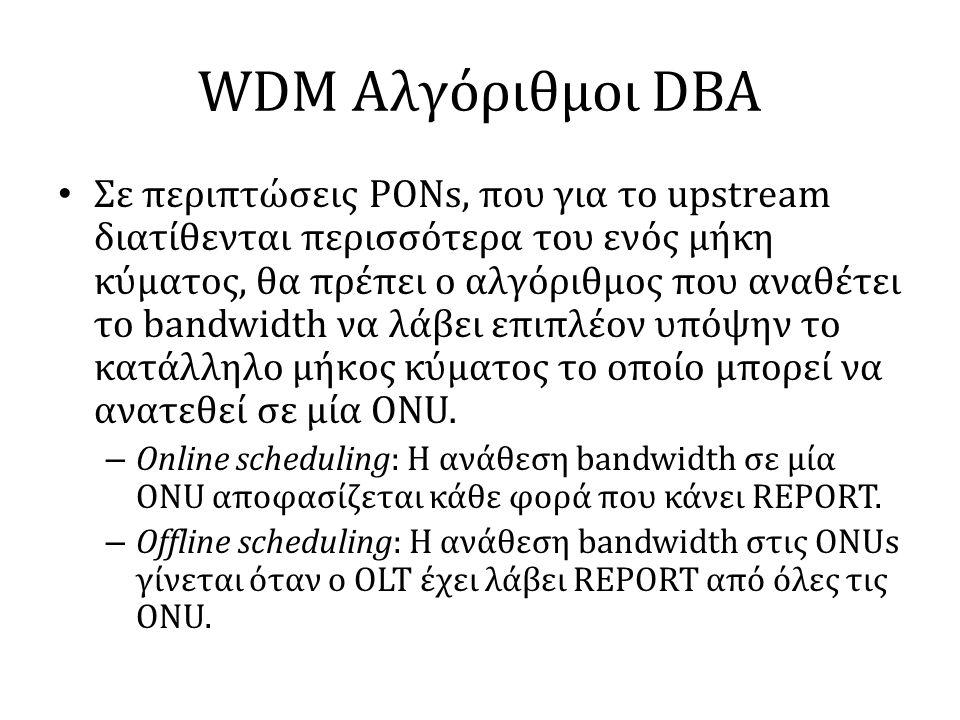 WDM Αλγόριθμοι DBA