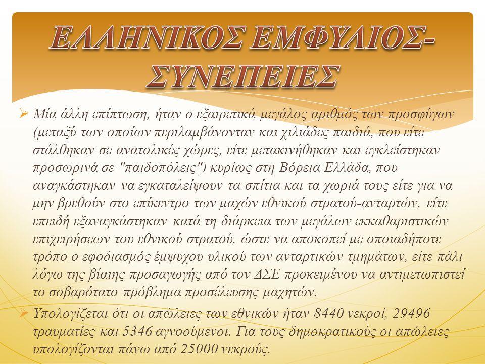 ΕΛΛΗΝΙΚΟΣ ΕΜΦΥΛΙΟΣ- ΣΥΝΕΠΕΙΕΣ