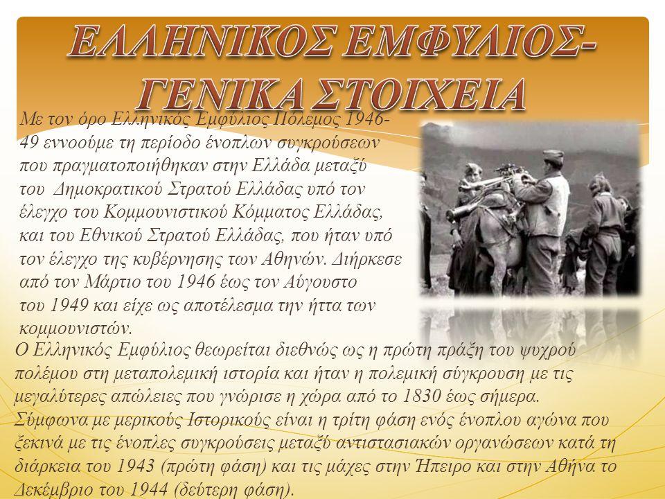 ΕΛΛΗΝΙΚΟΣ ΕΜΦΥΛΙΟΣ-ΓΕΝΙΚΑ ΣΤΟΙΧΕΙΑ