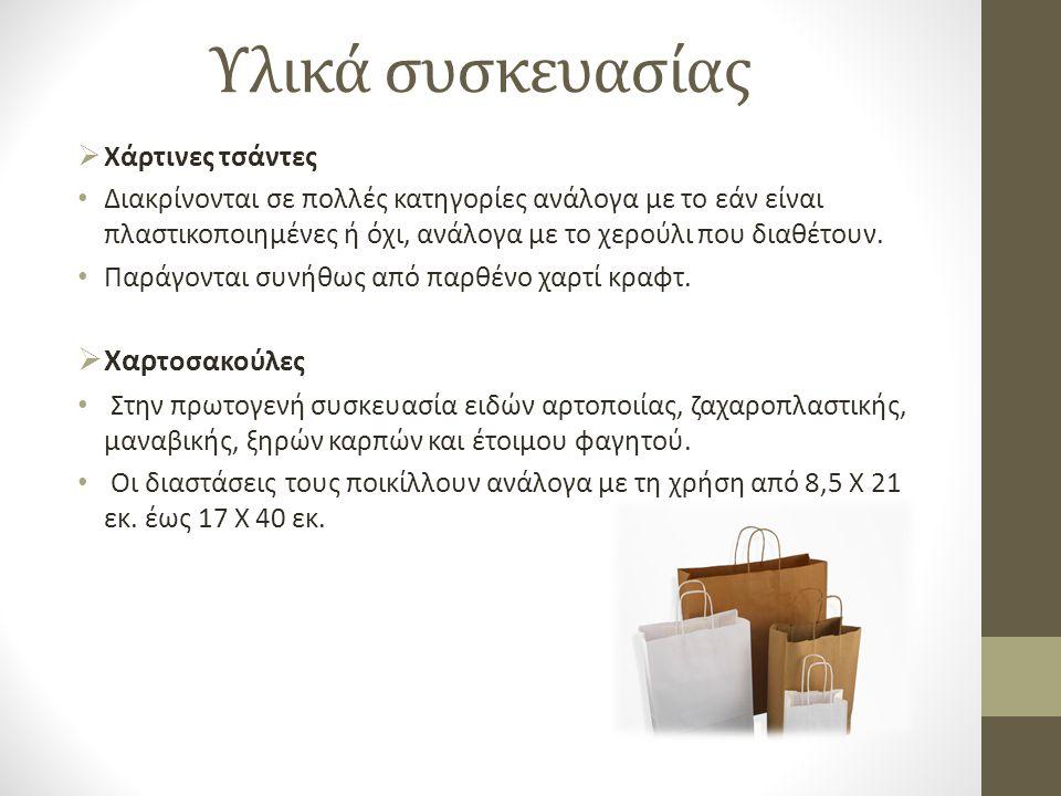 Υλικά συσκευασίας Χαρτοσακούλες Χάρτινες τσάντες