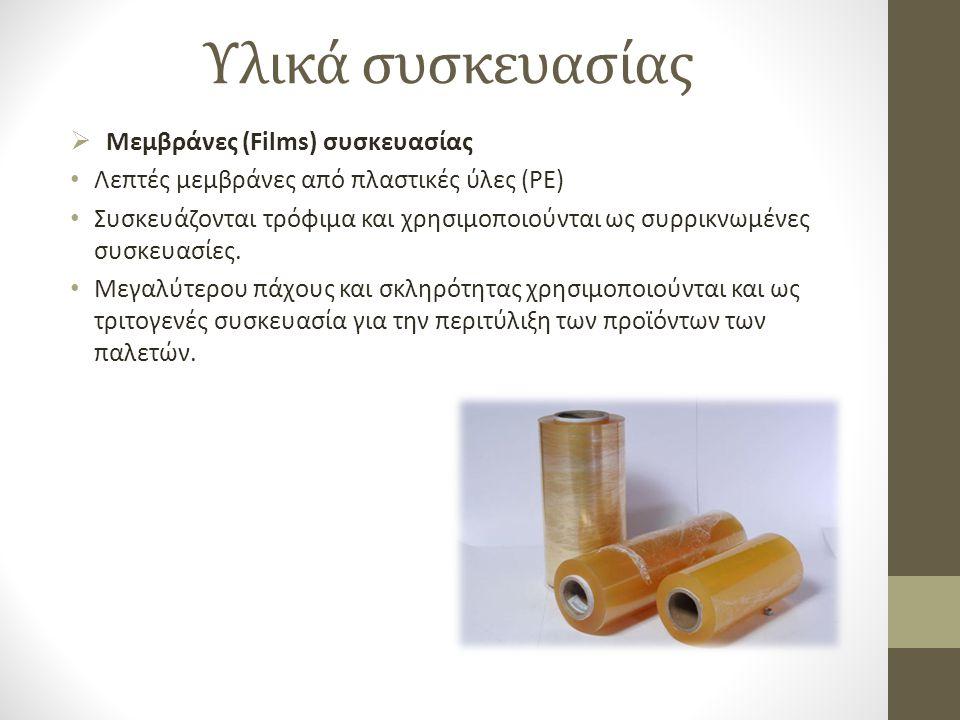 Υλικά συσκευασίας Μεμβράνες (Films) συσκευασίας