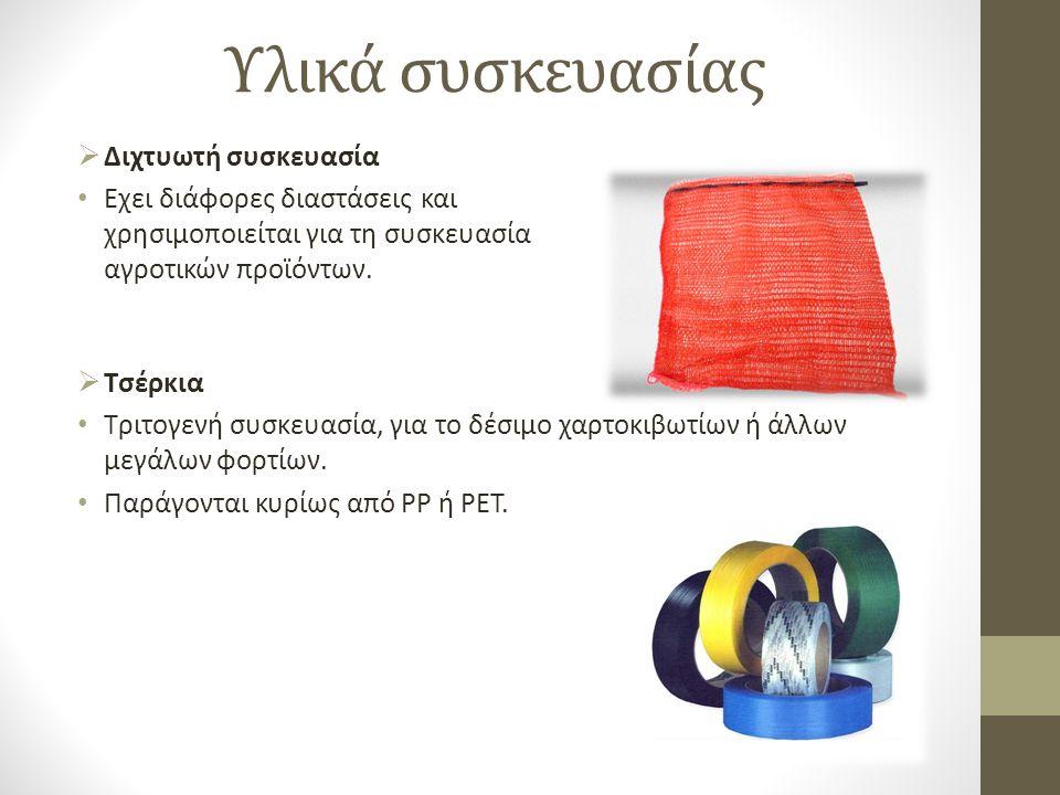 Υλικά συσκευασίας Διχτυωτή συσκευασία