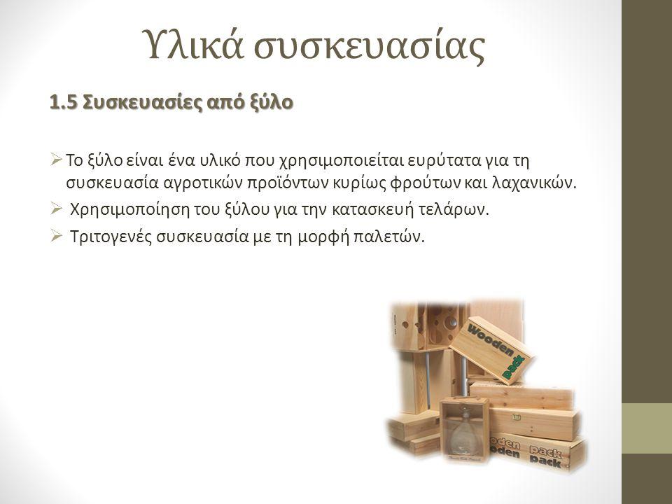 Υλικά συσκευασίας 1.5 Συσκευασίες από ξύλο