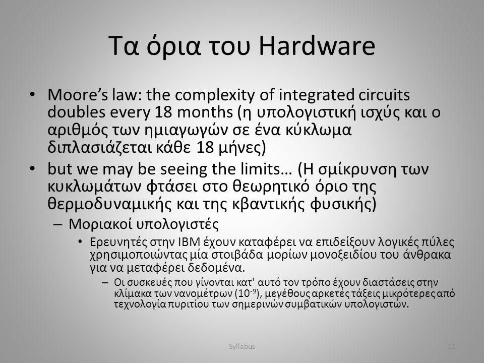 Τα όρια του Hardware