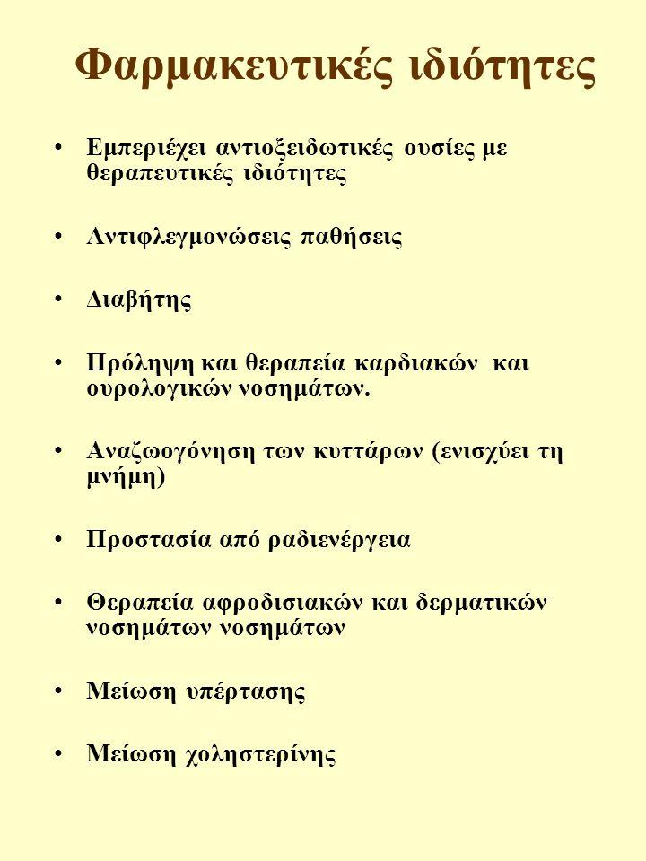 Φαρμακευτικές ιδιότητες