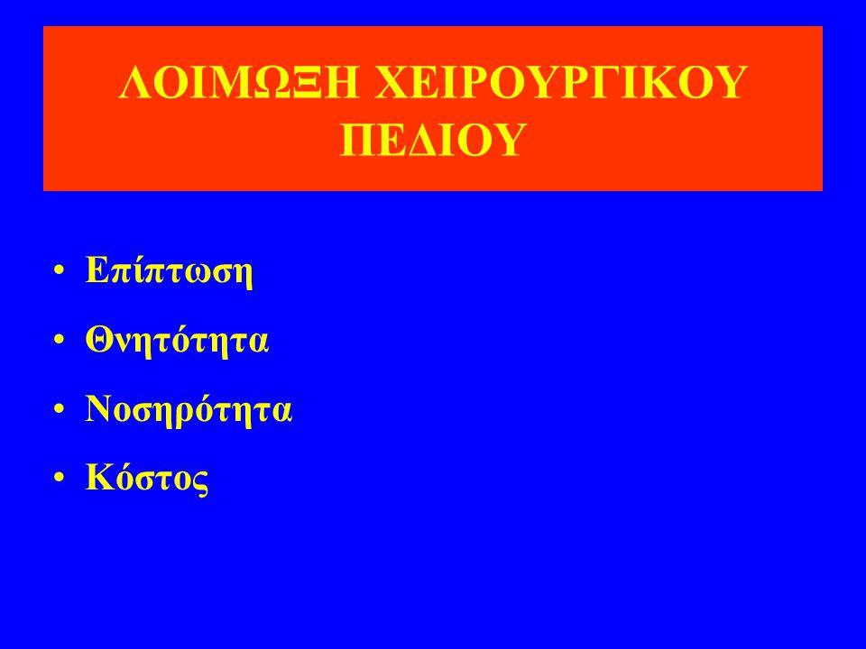 ΛΟΙΜΩΞΗ ΧΕΙΡΟΥΡΓΙΚΟΥ ΠΕΔΙΟΥ