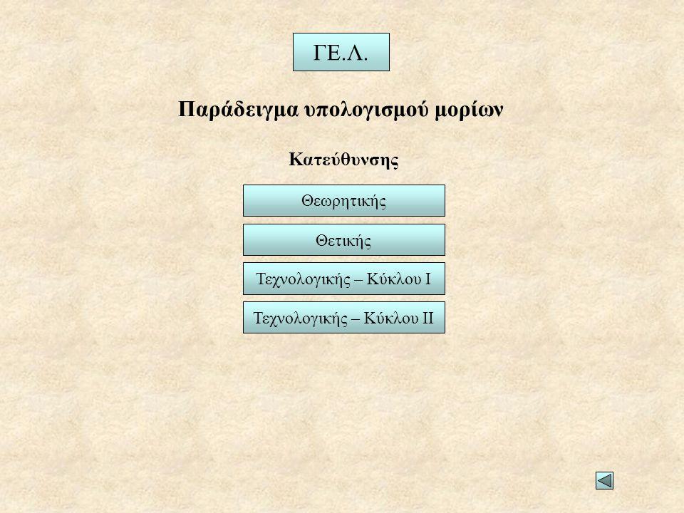 Παράδειγμα υπολογισμού μορίων