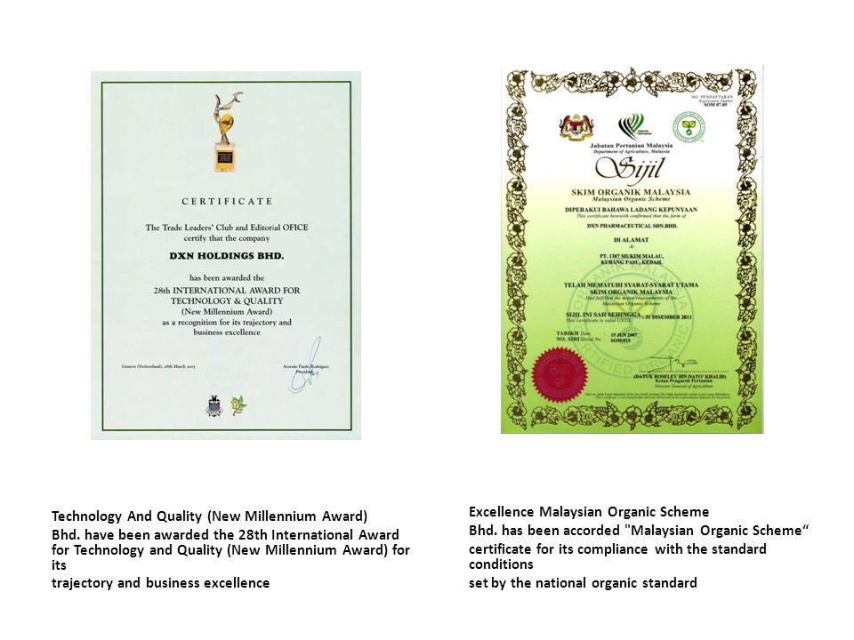 Excellence Malaysian Organic Scheme