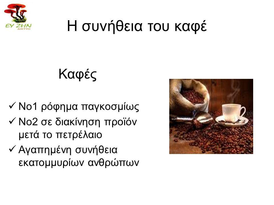Η συνήθεια του καφέ Καφές Νο1 ρόφημα παγκοσμίως