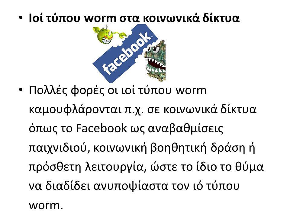 Ιοί τύπου worm στα κοινωνικά δίκτυα