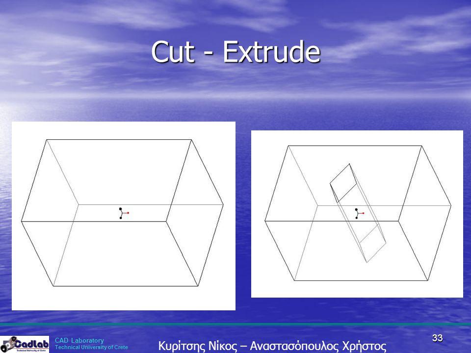 Cut - Extrude