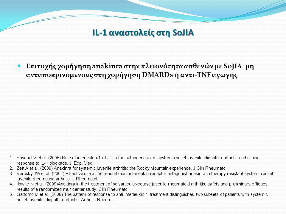 IL-1 αναστολείς στη SoJIA