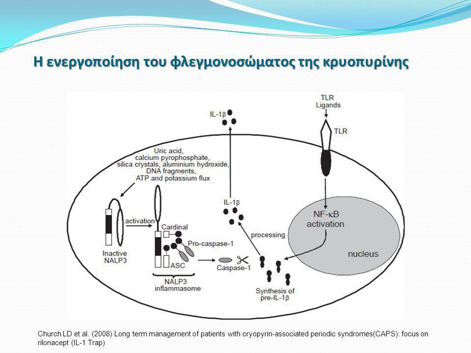 Η ενεργοποίηση του φλεγμονοσώματος της κρυοπυρίνης