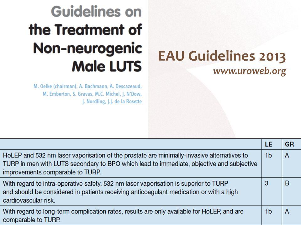 EAU Guidelines 2013 www.uroweb.org