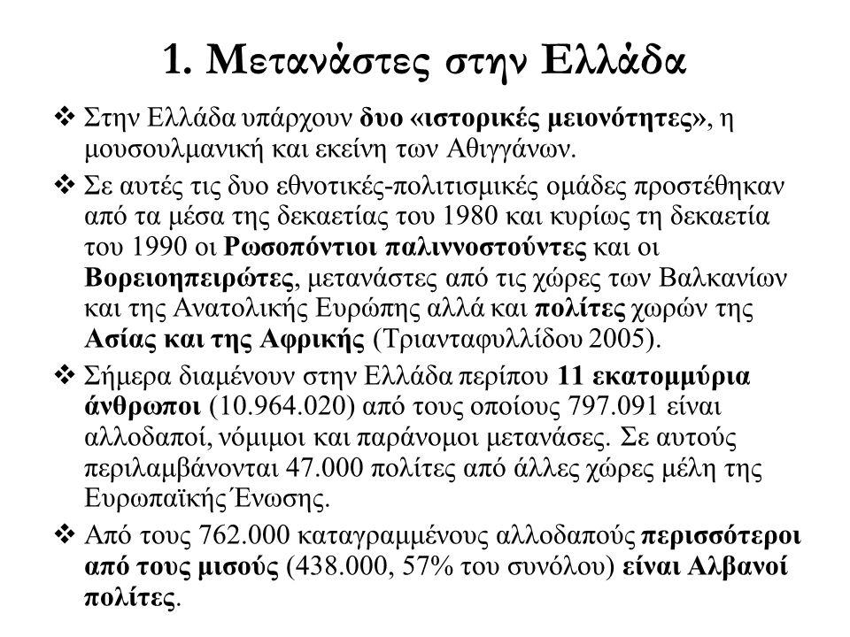 1. Μετανάστες στην Ελλάδα