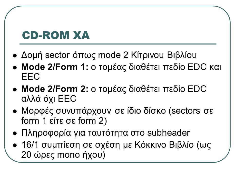 CD-ROM XA Δομή sector όπως mode 2 Κίτρινου Βιβλίου