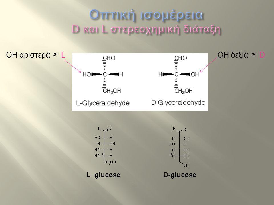 Οπτική ισομέρεια D και L στερεοχημική διάταξη