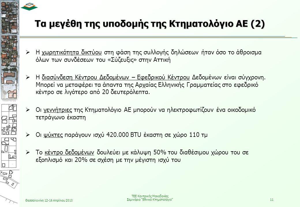 Τα μεγέθη της υποδομής της Κτηματολόγιο ΑΕ (2)