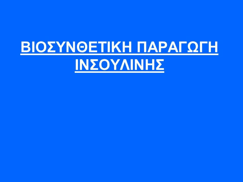 ΒΙΟΣΥΝΘΕΤΙΚΗ ΠΑΡΑΓΩΓΗ ΙΝΣΟΥΛΙΝΗΣ