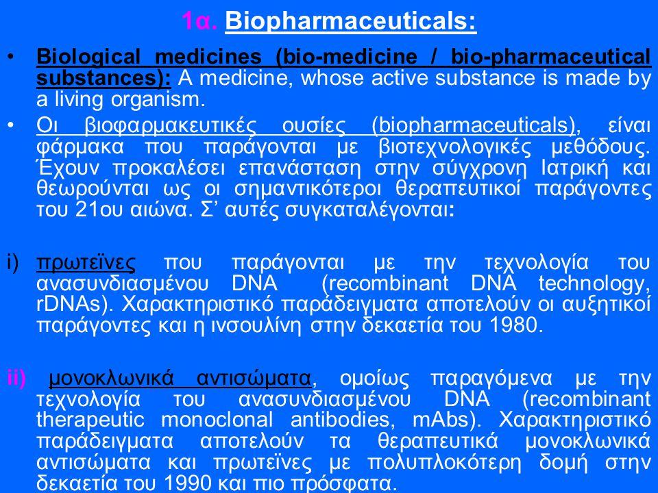 1α. Biopharmaceuticals:
