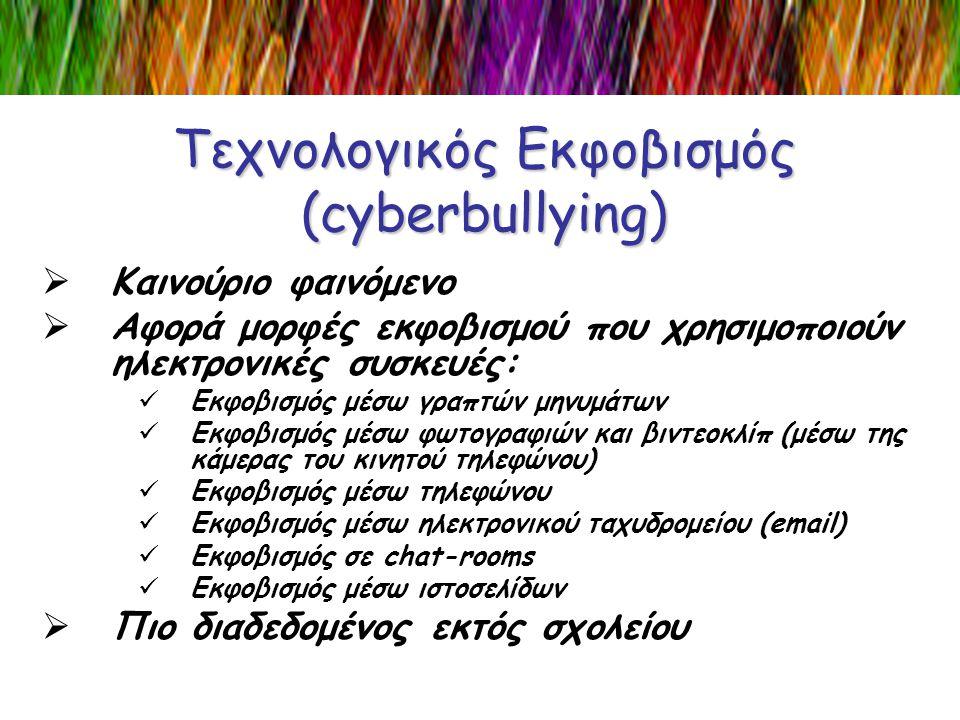 Τεχνολογικός Εκφοβισμός (cyberbullying)