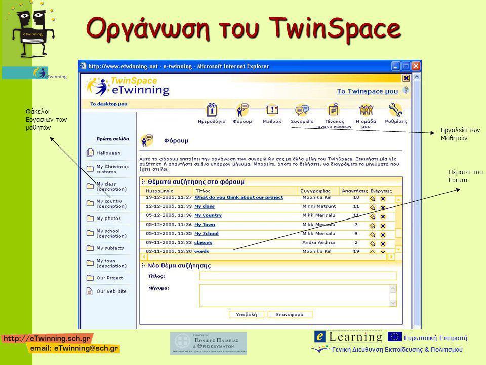 Οργάνωση του TwinSpace