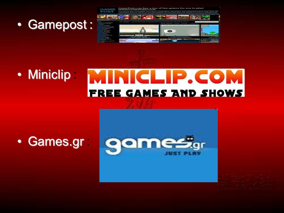 Gamepost : Miniclip : Games.gr :