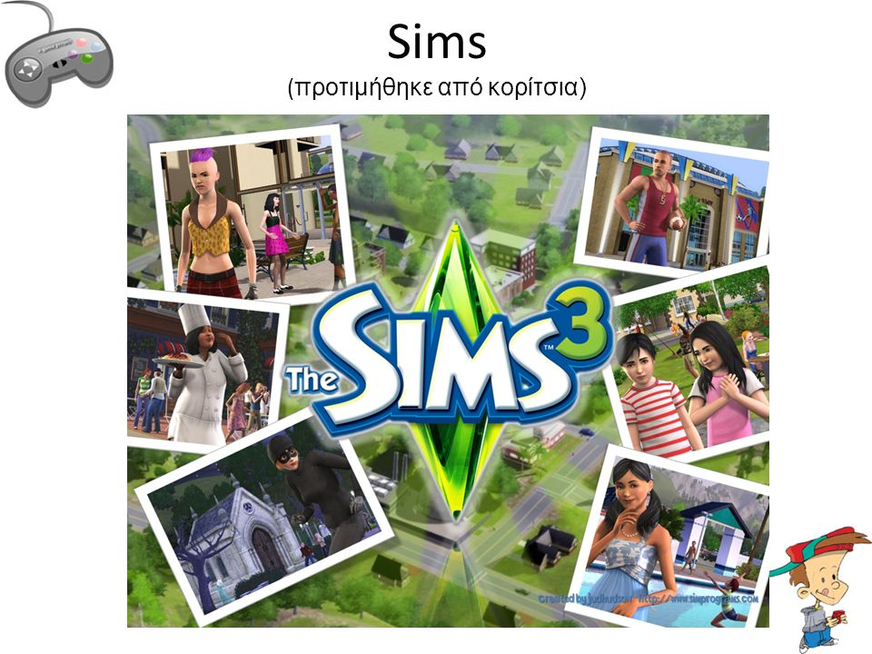 Sims (προτιμήθηκε από κορίτσια)