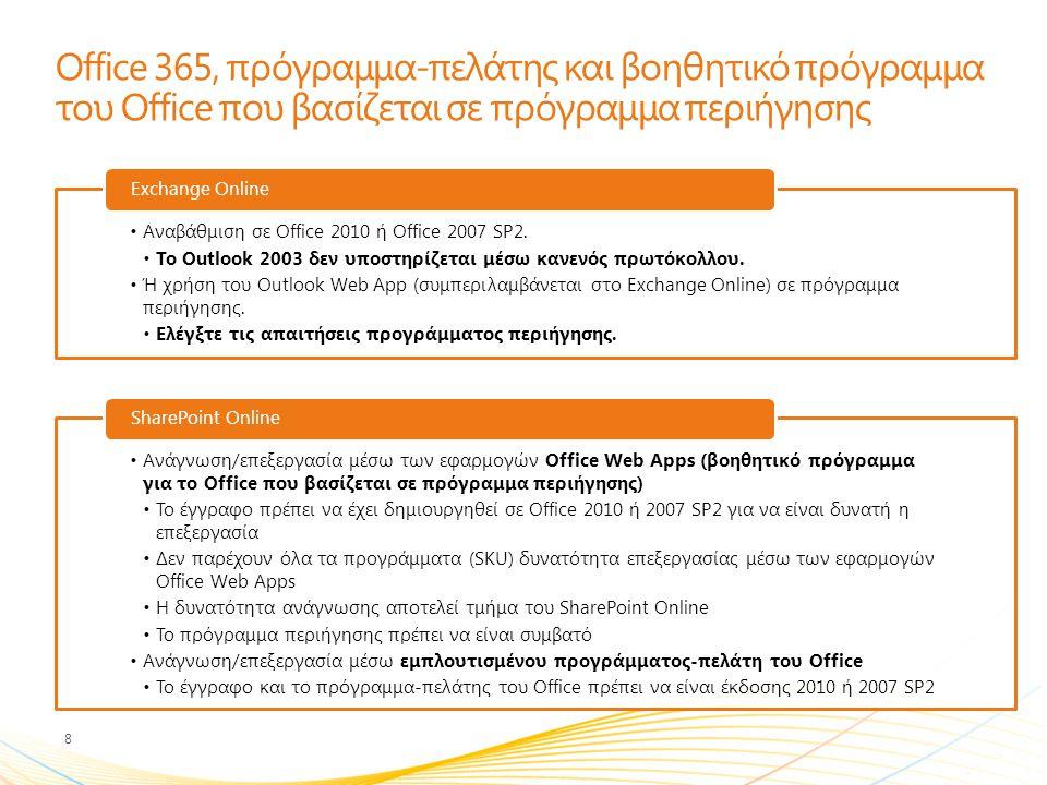Office 365, πρόγραμμα-πελάτης και βοηθητικό πρόγραμμα του Office που βασίζεται σε πρόγραμμα περιήγησης
