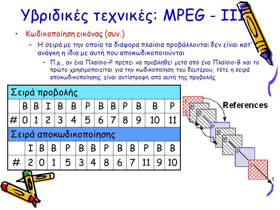 Υβριδικές τεχνικές: ΜPEG - ΙΙΙ